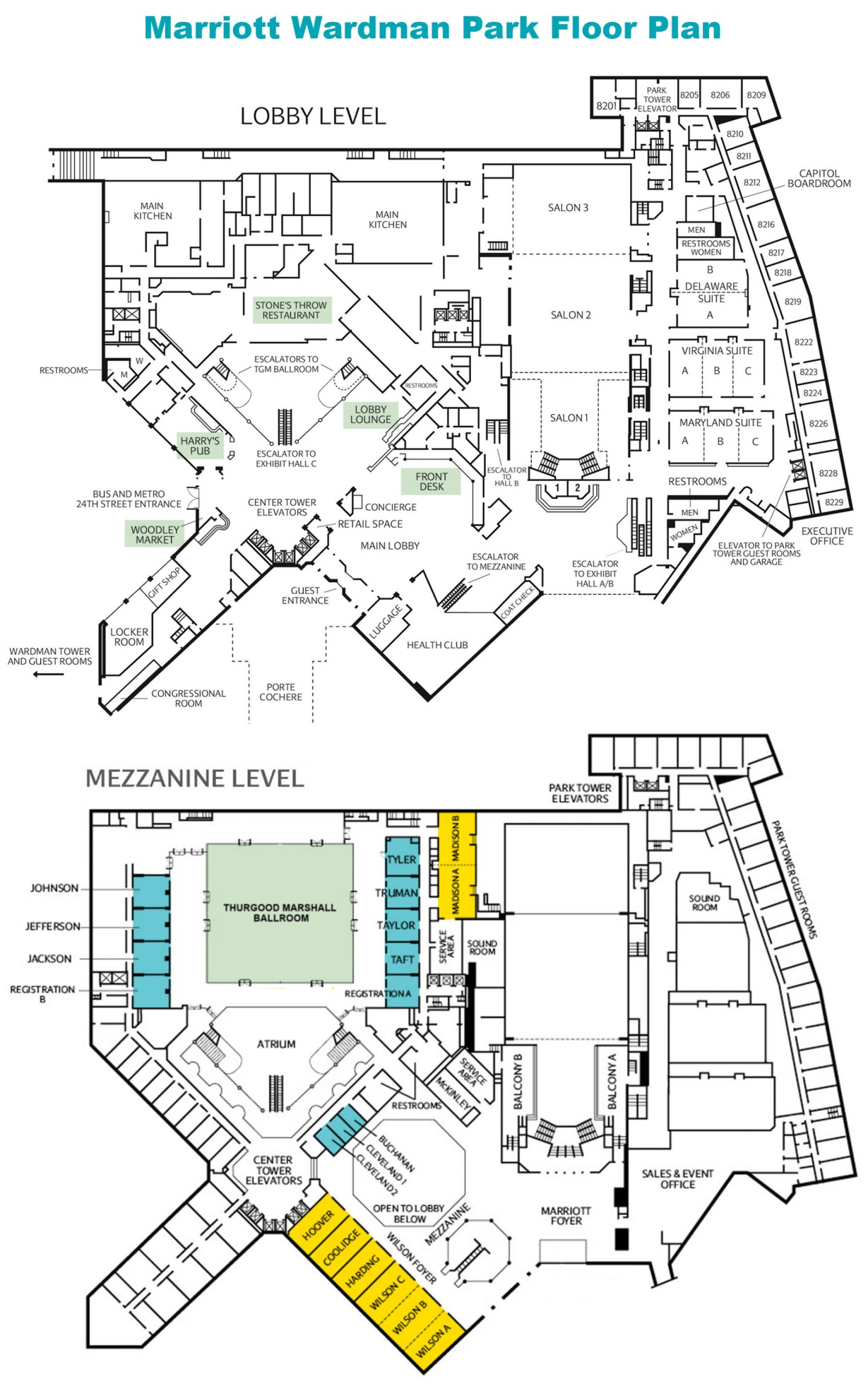Washington Marriott Wardman Park Floor Plan Thefloors Co